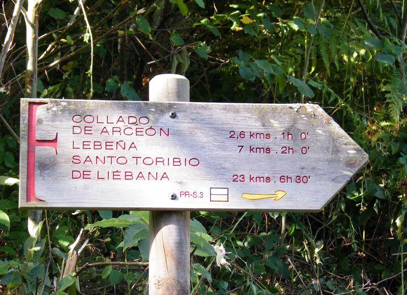 Señalización Camino lebaniego