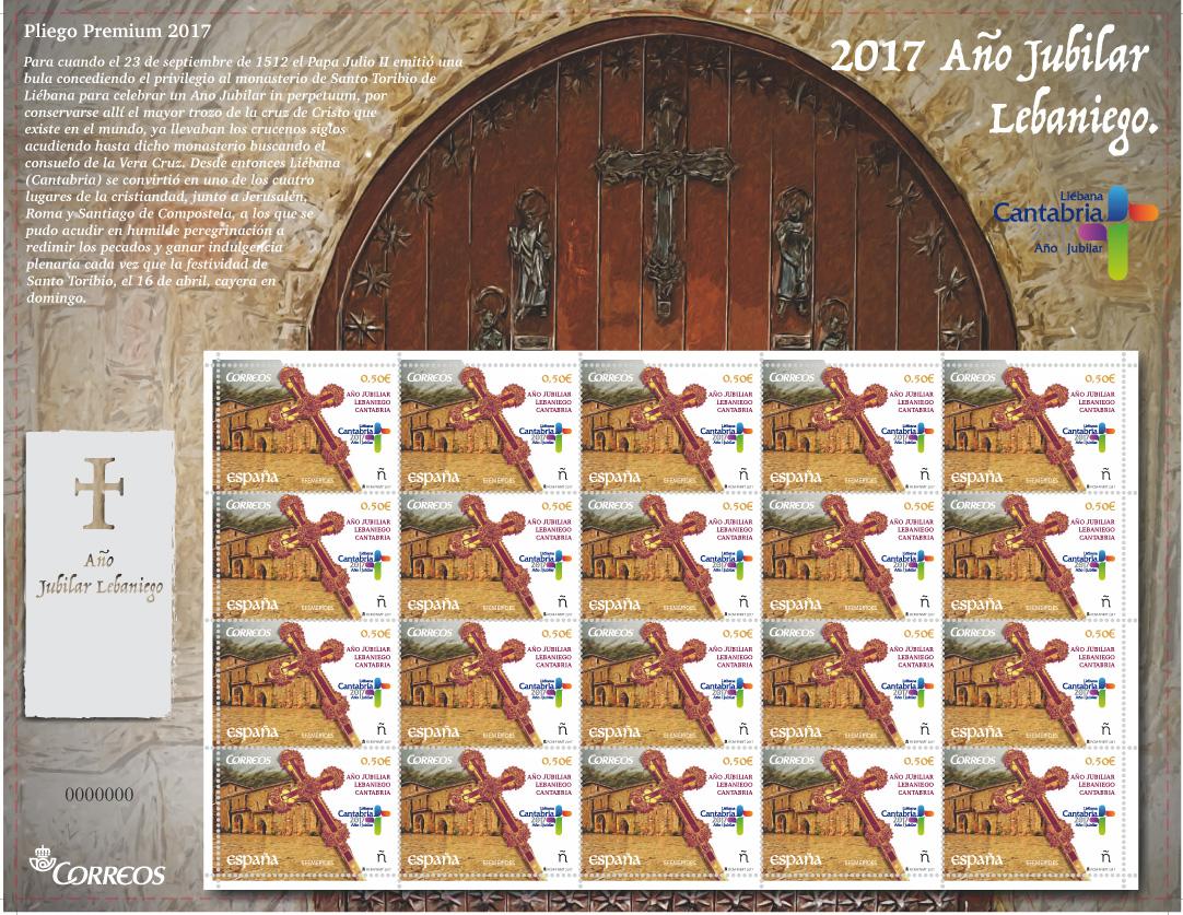 turismo cantabria - serie de sellos - año jubilar lebaniego - camino lebaniego -
