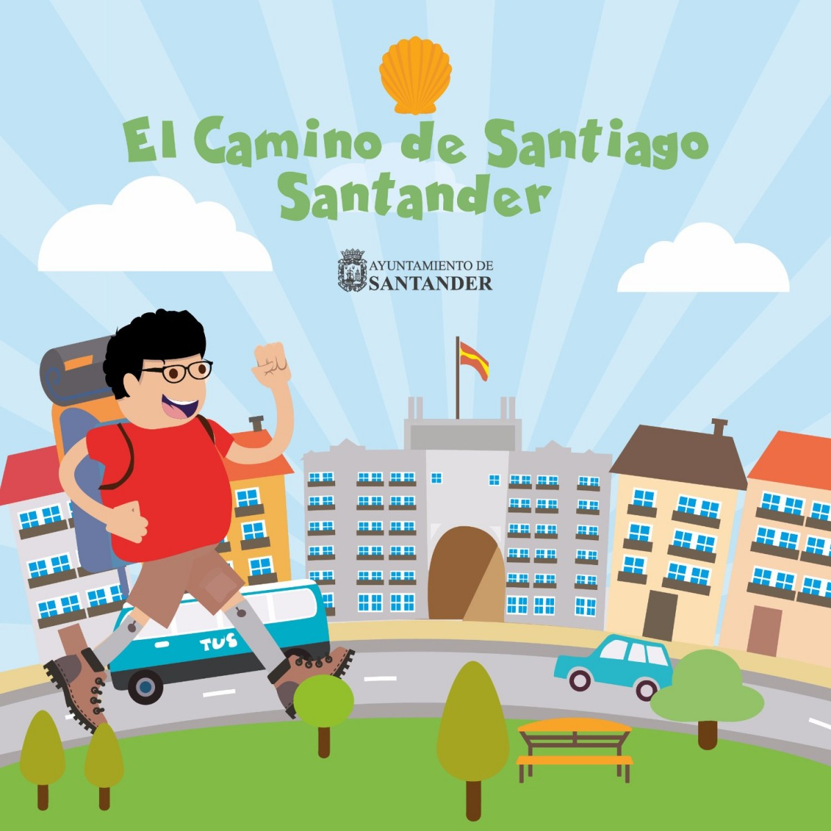Guía Camino de Santiago para niños Santander
